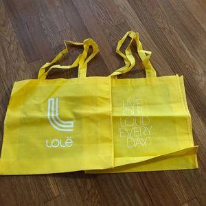 2 - Lole Fabric Cloth tote bags